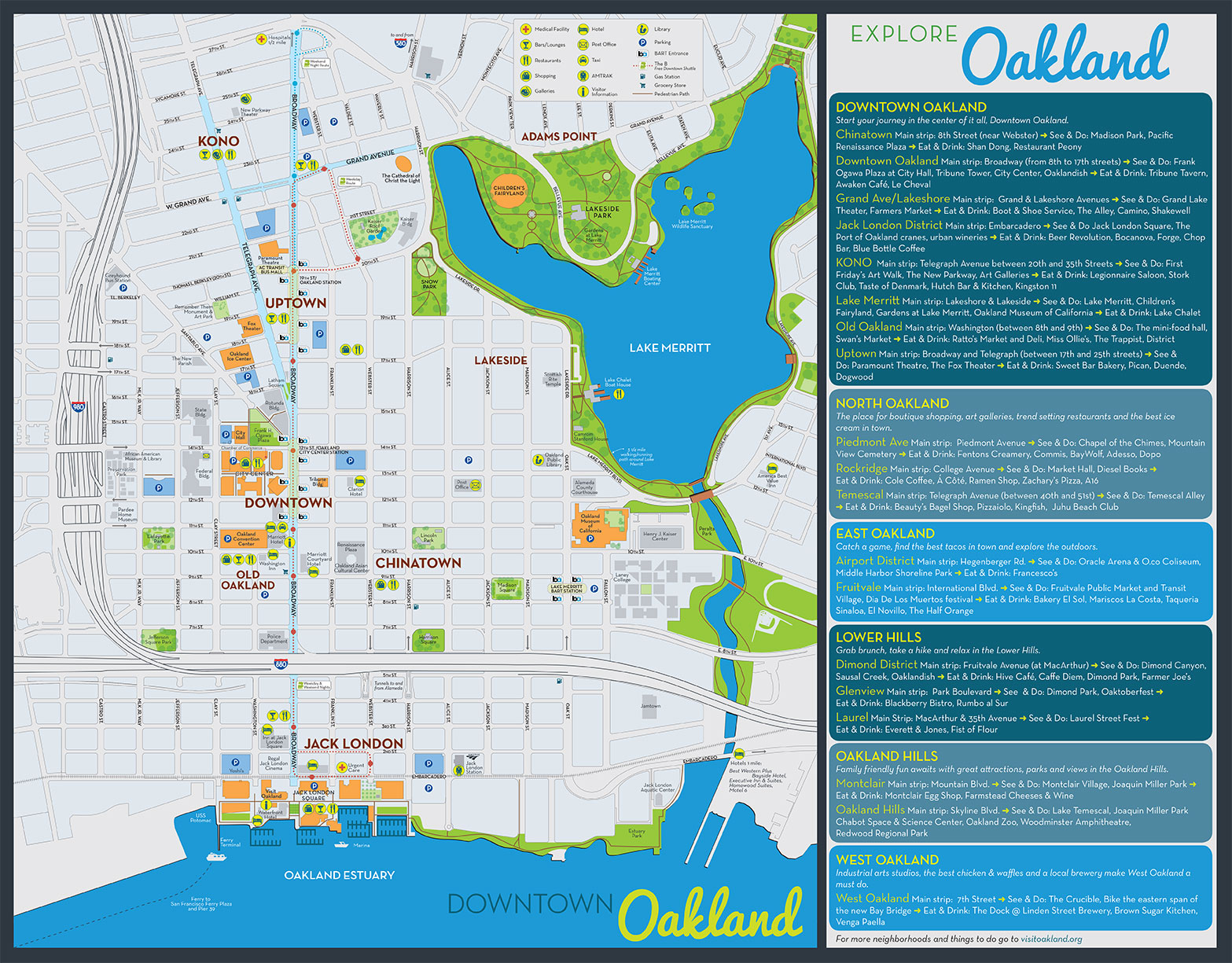 Oakland Visitor Map MmM Design – Downtown London Map